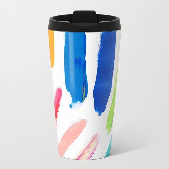 Emile Pattern Metal Travel Mug