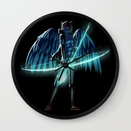 Luc Ready for Battle (Black/Dark Background) Wall Clock