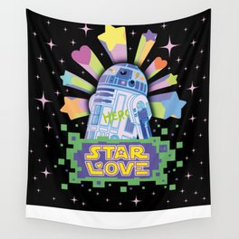 R2-D2 Star Love Wall Tapestry