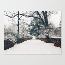 Serpentine Walls in the Snow Canvas Print