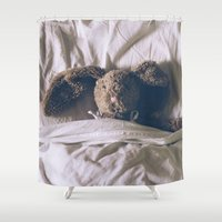 bunny Shower Curtains featuring Bunny by Helen Rushbrook