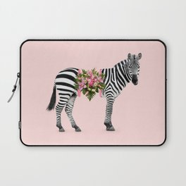 FLORAL ZEBRA Laptop Sleeve