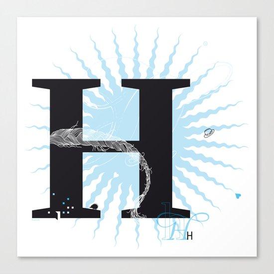 H like Heidi, Harry, Halloween… Canvas Print