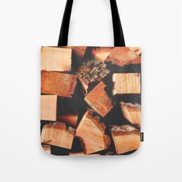Wood Logging Tote Bag