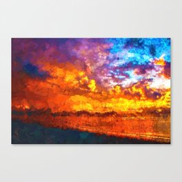 Beach Sunset I Canvas Print
