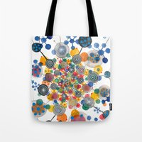 fireworks Tote Bags featuring Fireworks by Asja Boros