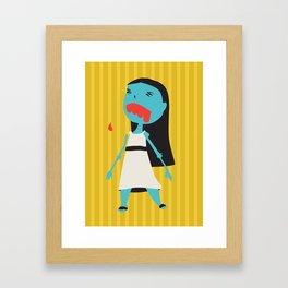 Zombie Janet Framed Art Print