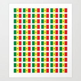 Flag of senegal – senegalais,senegalaise,senegalese,dakar,wolof. Art Print