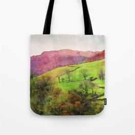 Green Grasmere Hillside, Ambleside, Lake District UK Tote Bag