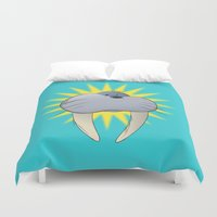 walrus Duvet Covers featuring Walrus by quietsight