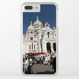 Paris, The Sacre Coeur (Sacred Heart) Clear iPhone Case