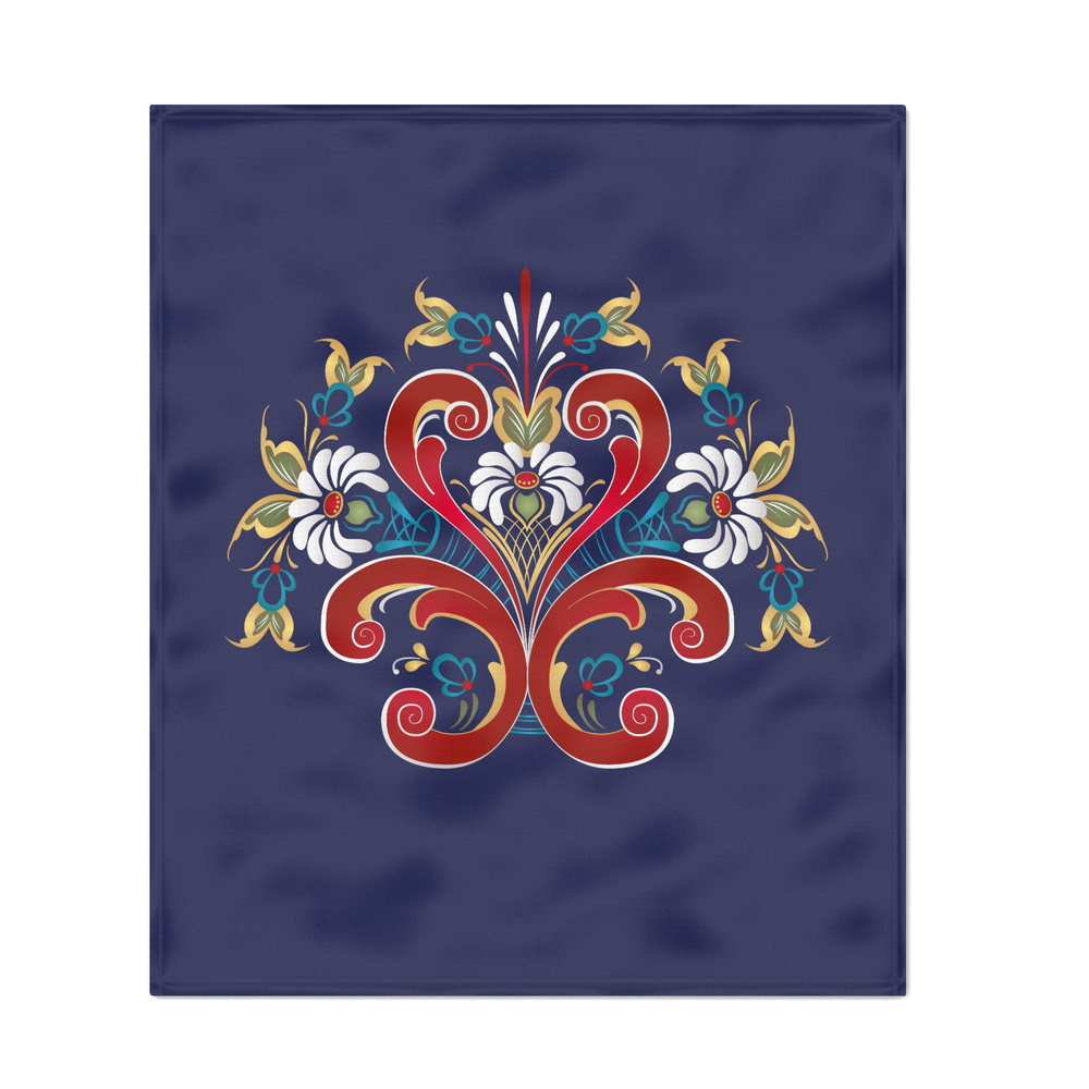 Scandinavian_Rosemaling_II_Throw_Blanket_by_helen