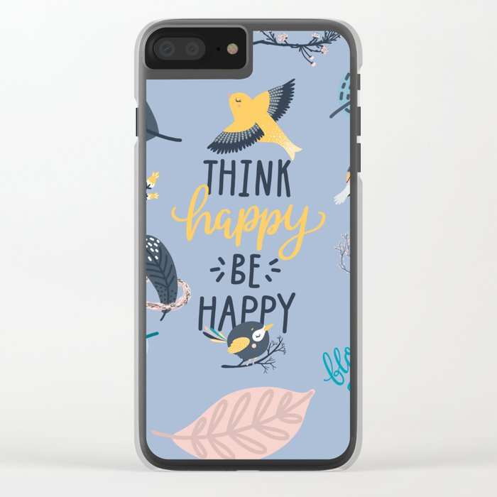 Happy birds Clear iPhone Case