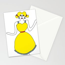 The girl in yellow Stationery Cards