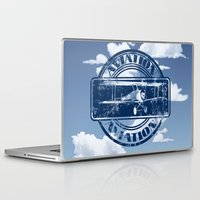 aviation Laptop & iPad Skins featuring Retro Aviation Art by MacDonald Creative Studios
