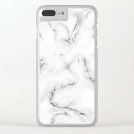 Deep Marble Texture Black White Clear iPhone Case