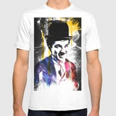 charlie chaplin Mens Fitted Tee White SMALL