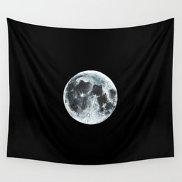 Full Moon Painting Wall Tapestry