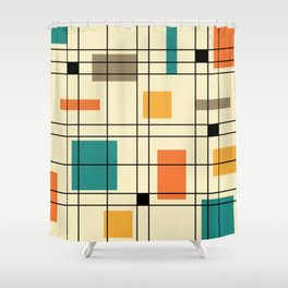 1950's Abstract Art Shower Curtain