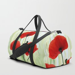 Poppies red 008 Duffle Bag