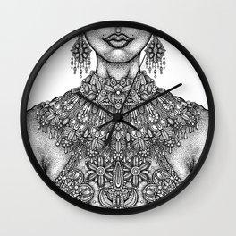 Necklines Wall Clock