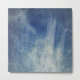 texture bleue Metal Print