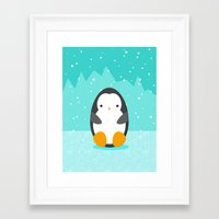 penguin Framed Art Prints featuring Penguin by eDrawings38