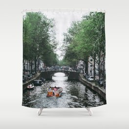 Canal Cruise Shower Curtain