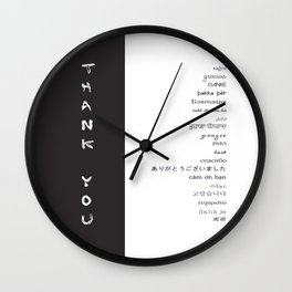 Multilingual Thank You Wall Clock