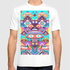 Jackpot White MEDIUM Mens Fitted Tee