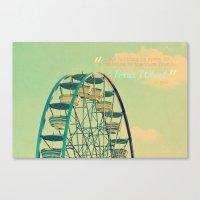 ferris wheel Canvas Prints featuring Ferris Wheel  by RDelean
