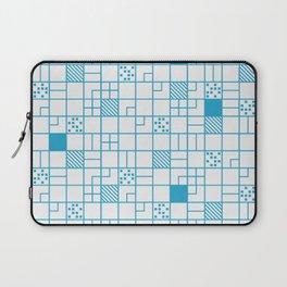 Boxes Blue Laptop Sleeve