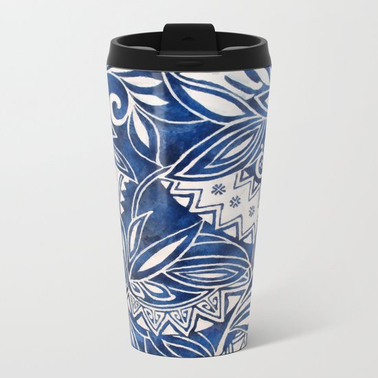 Hawaiian tribal pattern II Metal Travel Mug