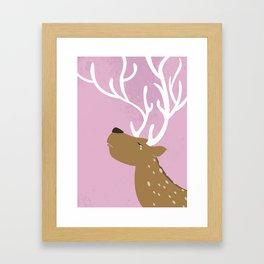 Crying Deer Framed Art Print