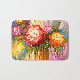 A bouquet of flowers Bath Mat
