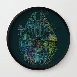Millennium Falcon Painters Schematic Wall Clock