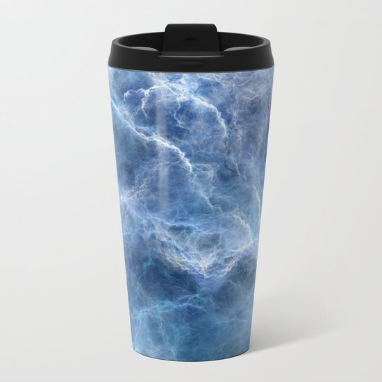 Blue storm Metal Travel Mug