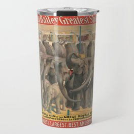 Illustrated Circus Poster Travel Mug
