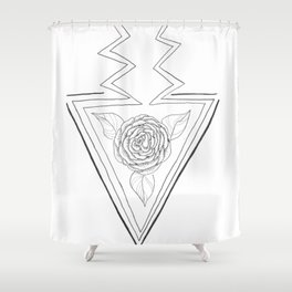 Rose and Arrow Design Shower Curtain