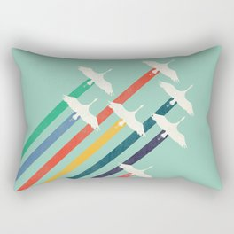 The Cranes Rectangular Pillow