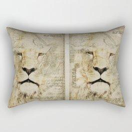 Lion Vintage Africa old Map illustration Rectangular Pillow