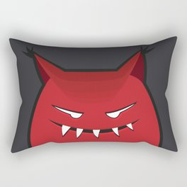 Evil Monster With Pointy Ears Rectangular Pillow