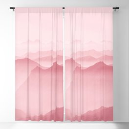 Pink Forest Blackout Curtain