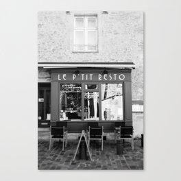 Le P'tit Resto  //  France - travel photography Canvas Print