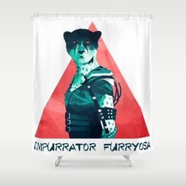 Impurrator Furryosa Shower Curtain