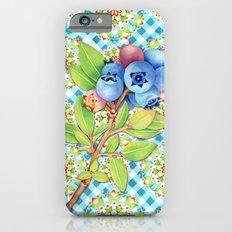 Maine Blueberry Gingham Mandala iPhone 6s Slim Case
