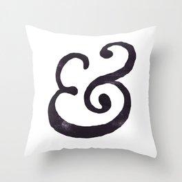 Black Ampersand  Throw Pillow