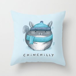 Chinchilly Throw Pillow