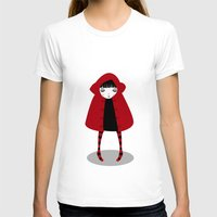 red hood T-shirts featuring Little Red Riding Hood by Volkan Dalyan