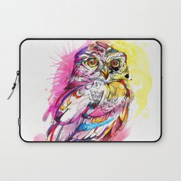 Neon Northern Pygmy Owl Laptop Sleeve